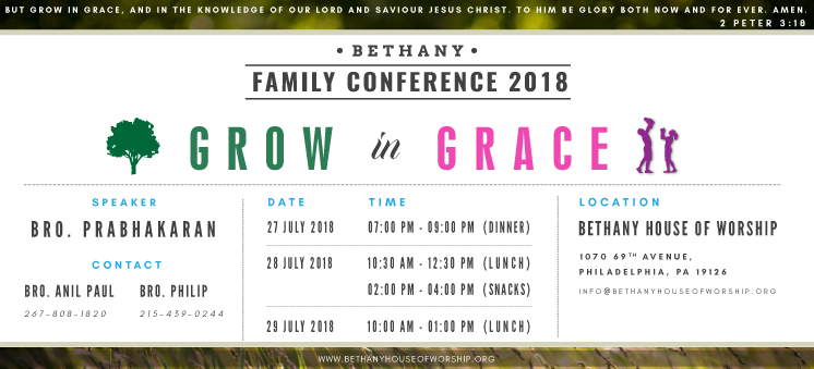 Family Conference 2018 - Website Roller